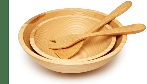 Farmhouse Potter wooden bowls
