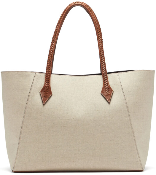Métier             Perriand collapsible linen-canvas tote bag