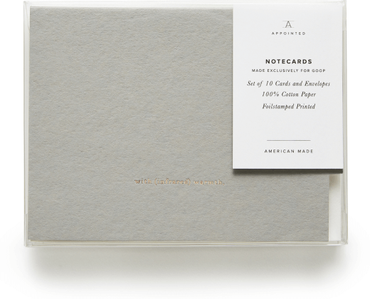 goop x Appointed GOOP EXCLUSIVE NOTECARDS WITH (INFRARED) WARMTH, SET OF 10