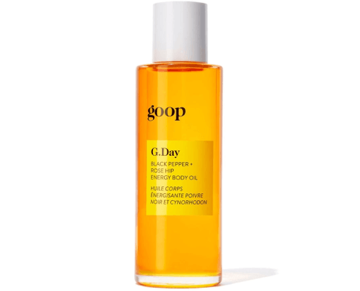 goop Beauty G.DAY BLACK PEPPER + ROSE HIP ENERGY BODY OIL