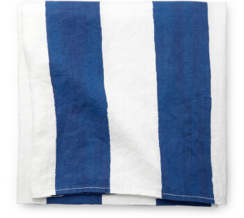 Summerill + Bishop Blue-and-White-Striped Tablecloth