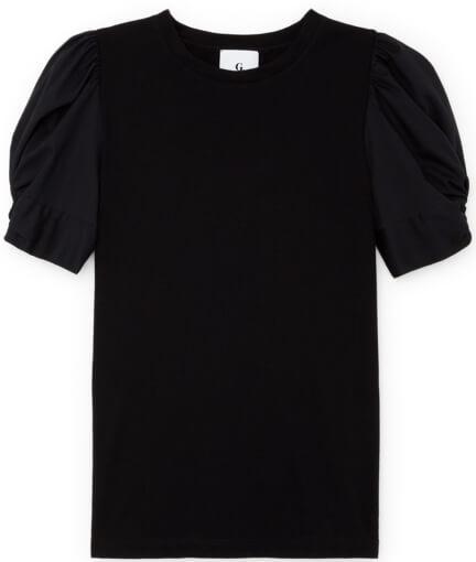 G Label Christopher Puff-Sleeve Poplin T-Shirt
