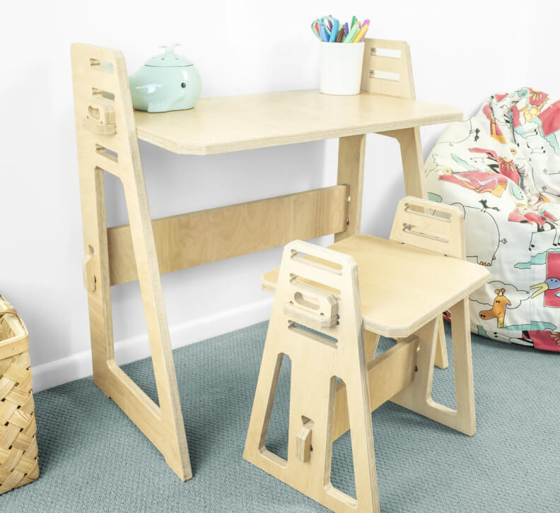 Work from Home Desks KIDS AT HOME DESK & STOOL