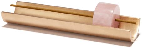 Cinnamon Projects ROSE QUARTZ BURNER + INCENSE SET