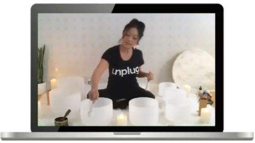 Unplug Meditation virtual sound bath