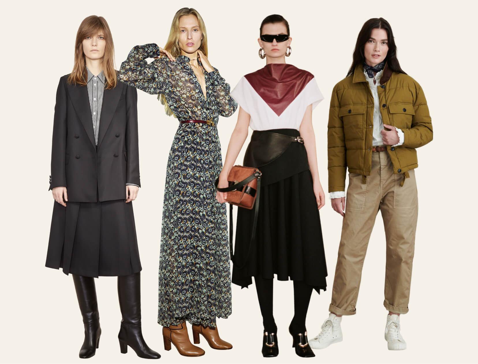 mujeres en trajes de otoño