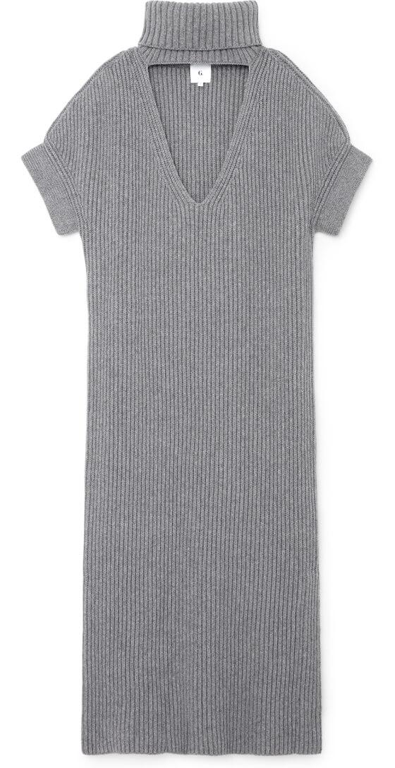 Dara Turtleneck Sweaterdress