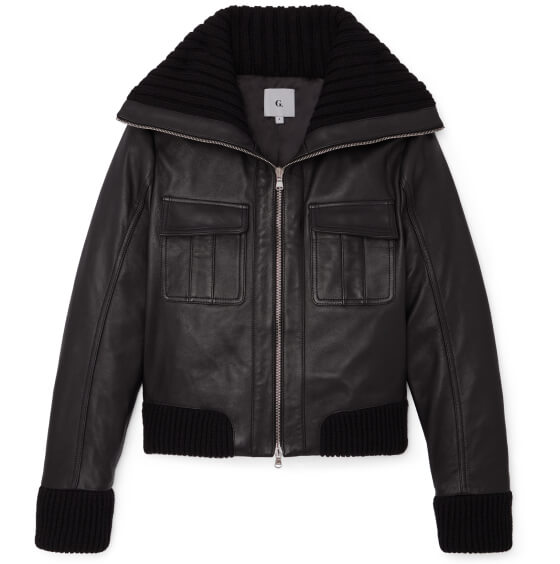 Brille Leather Bomber Jacket
