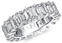 Graff emerald cut eternity band