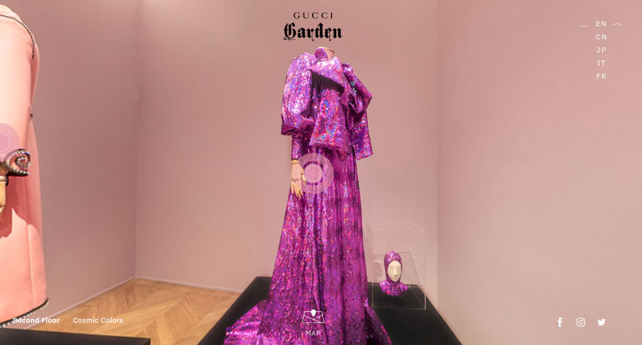 VIRTUAL TOURS OF GUCCI GARDEN