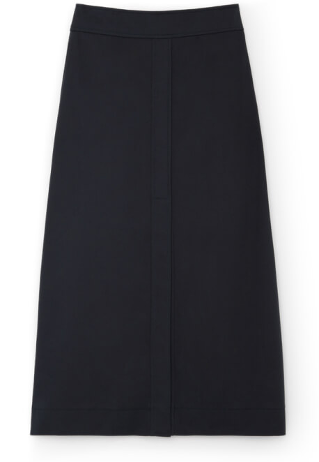 G. Label STEWART A-LINE COTTON SKIRT