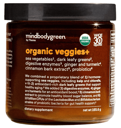 mindbodygreen Organic Veggies+