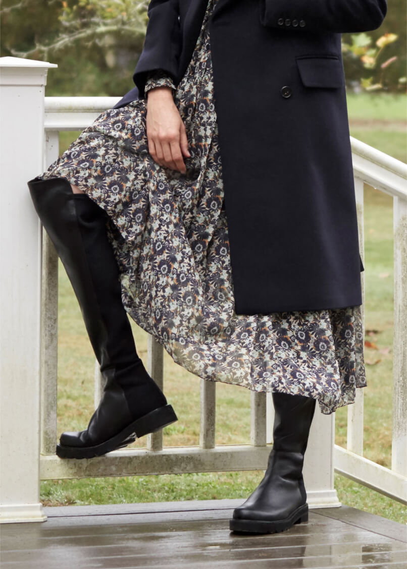 VICTORIA BECKHAM COAT and SHIRTDRESS