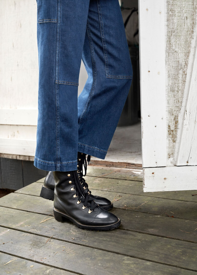 G. LABEL JP WORKWEAR JEANS with STUART WEITZMAN BOOT