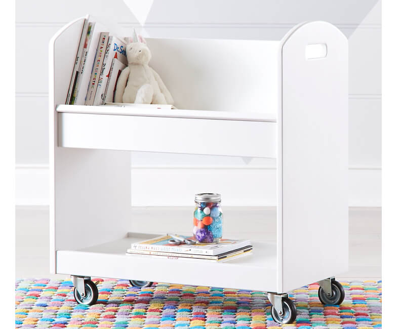 Crate&kids WHITE LOCAL BRANCH LIBRARY CART