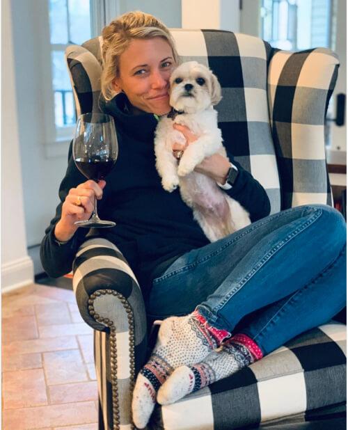 Lauren and dog