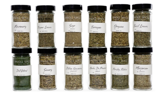 Whole Spice HERBS JAR SET