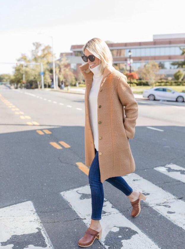 Lauren crossing street
