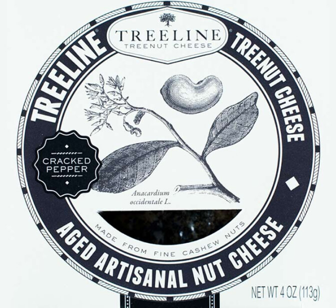Treeline Treenut Cheese Aged Artisanal Nut Cheese with Cracked Black Pepper