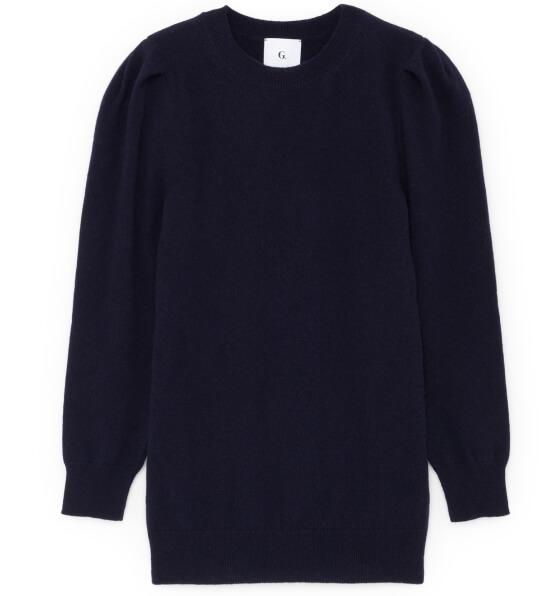 Obye Puff-Sleeve Crewneck Sweater