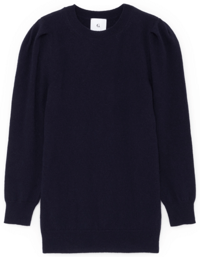 G. Label OBYE PUFF-SLEEVE CREWNECK SWEATER