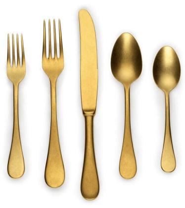 Mepra Matte-Gold 5-Piece Place Setting