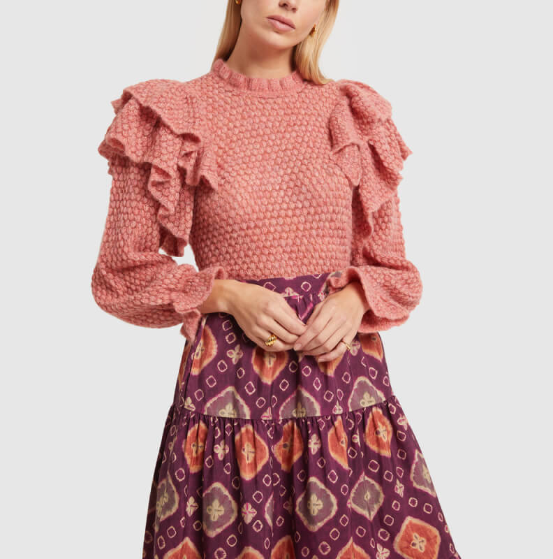 ULLA JOHNSON SWEATER and SKIRT