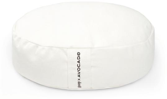 Almohada de meditación colchón verde aguacate de goop x