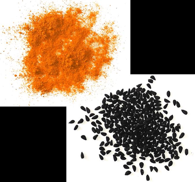 Turmeric and black seed