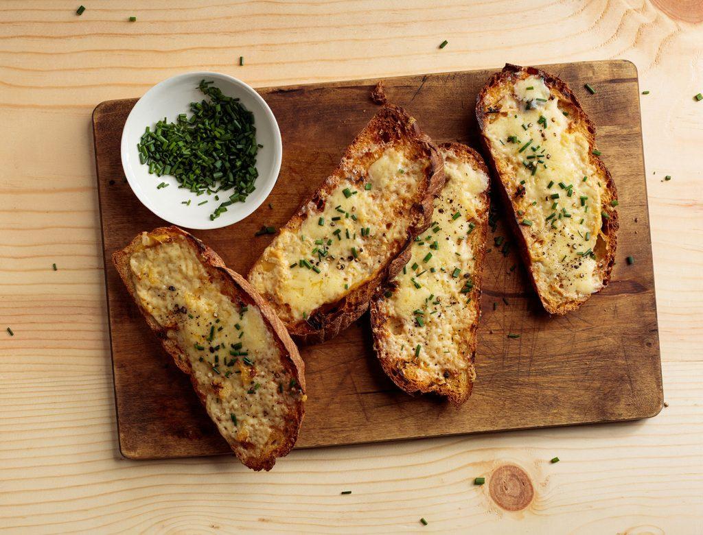Cheddar and Horseradish Tartines