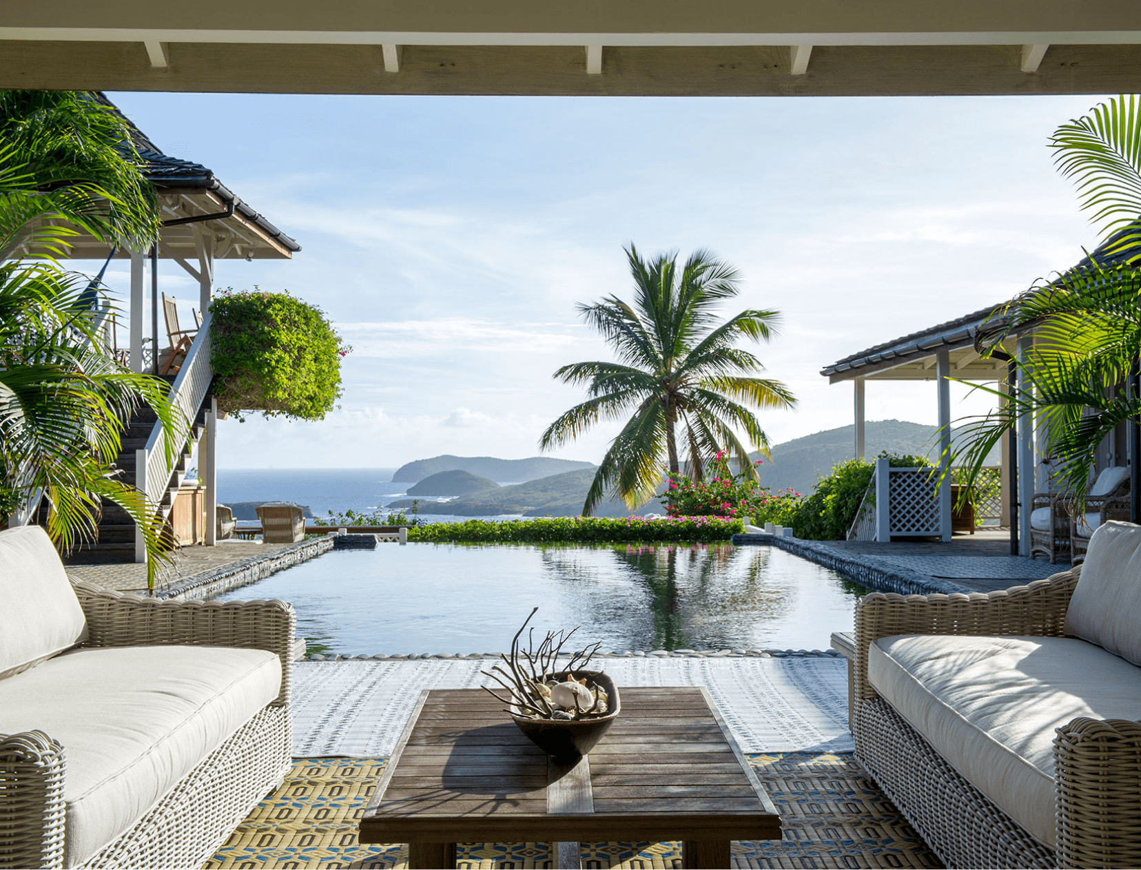 outdoor lounge with ocean view