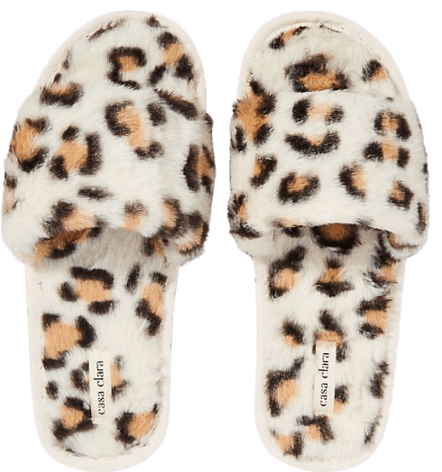Anthropologie Maile Faux-Fur Slippers