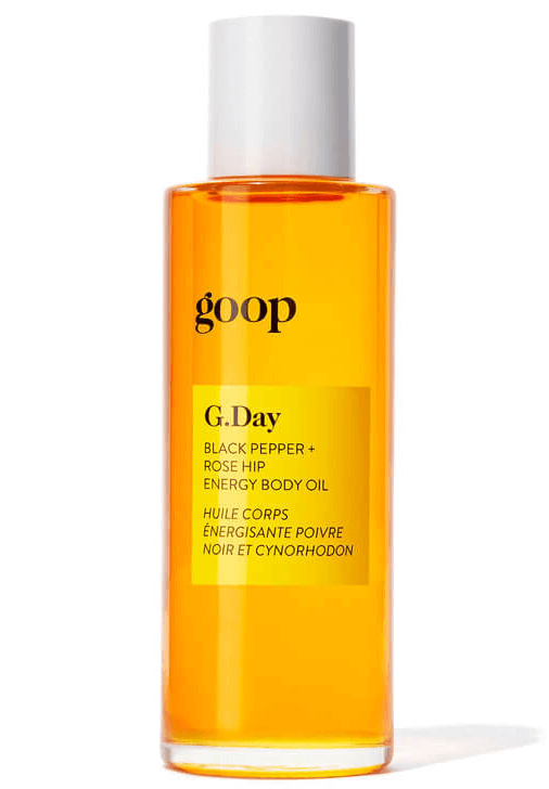 goop Beauty G.Day Black Pepper + Rose Hip Energy Body Oil
