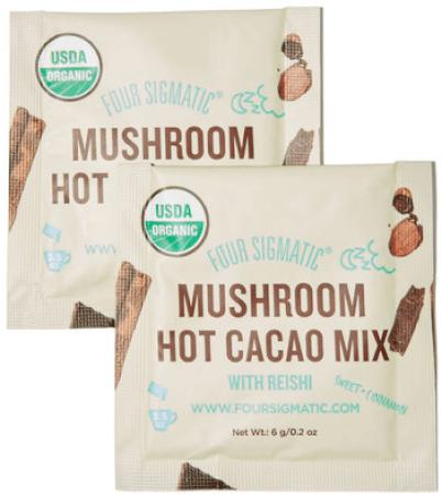 Four SigmaticMushroom Hot Cacao Mix with Reishi