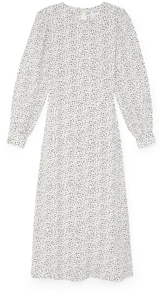 G. Label citrine printed dress