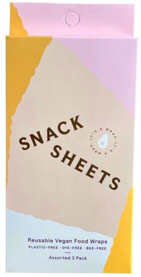Snacksheets Reusable Vegan Food Wraps