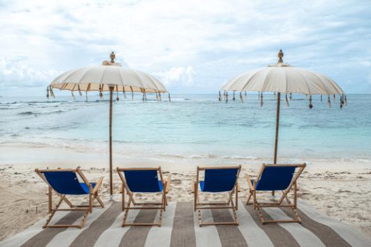 beach chairs overlooking the ocean