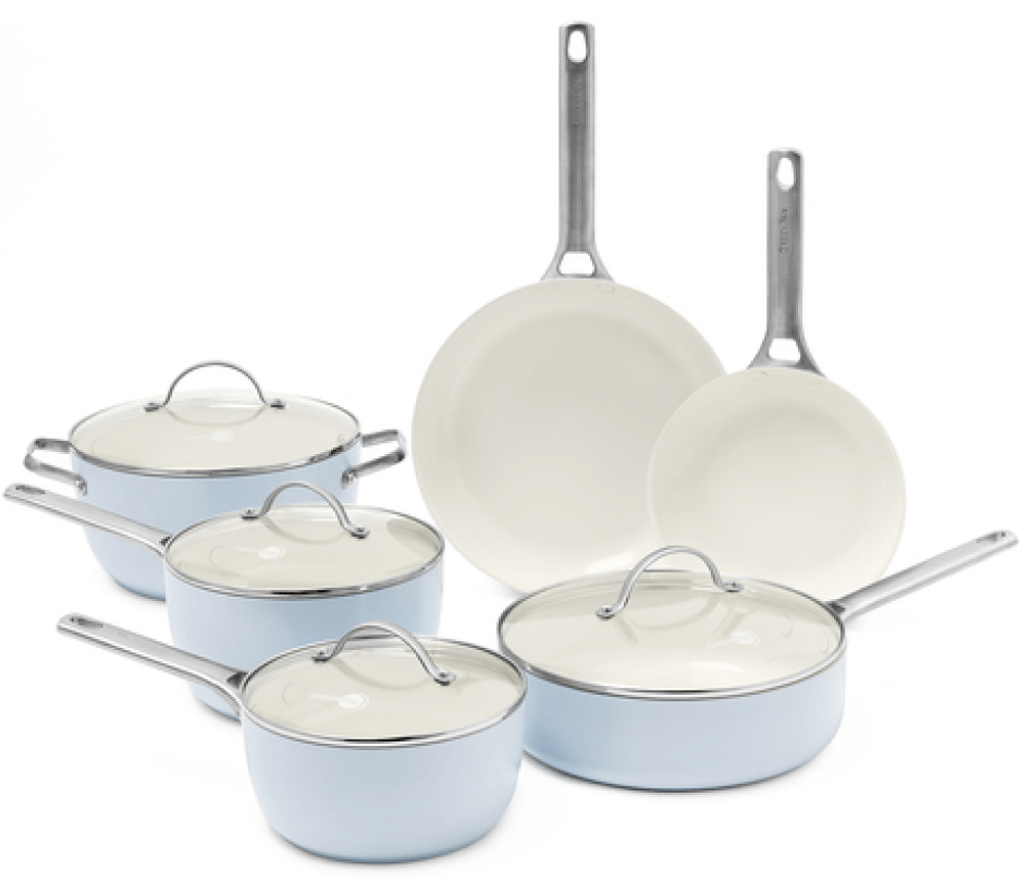 GreenPan Padova Ceramic Nonstick 10-piece Cookware Set