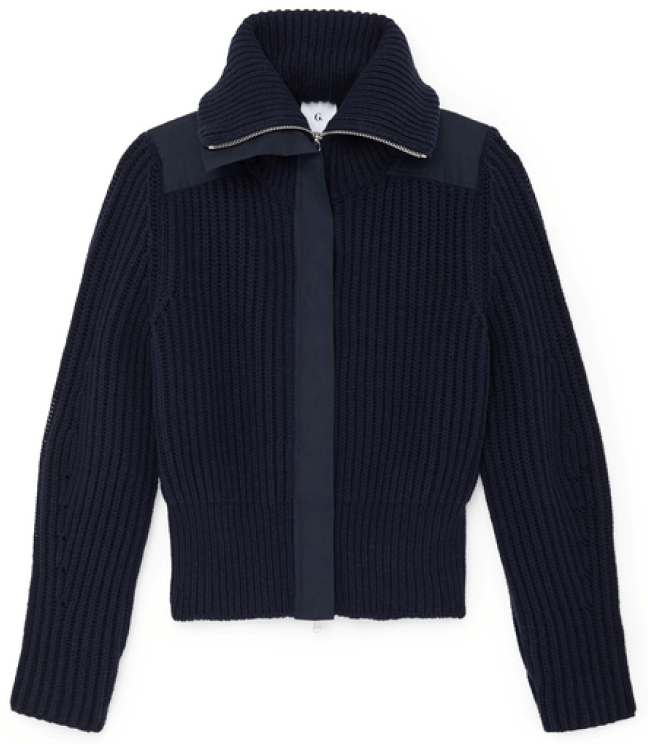 G. Label Rubinfeld Zip-Up Sweater
