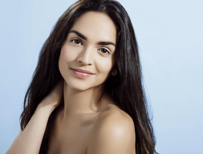 woman with glowy skin