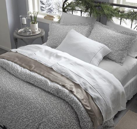 Garnet Hill Flannel bedding