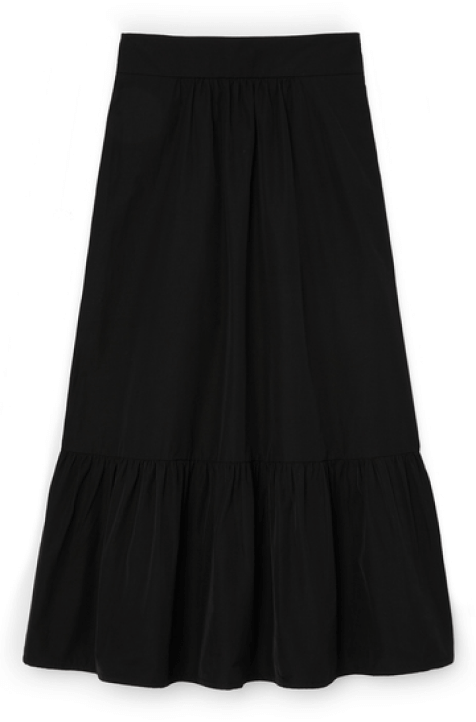 G. Label Jess tiered mid-length skirt