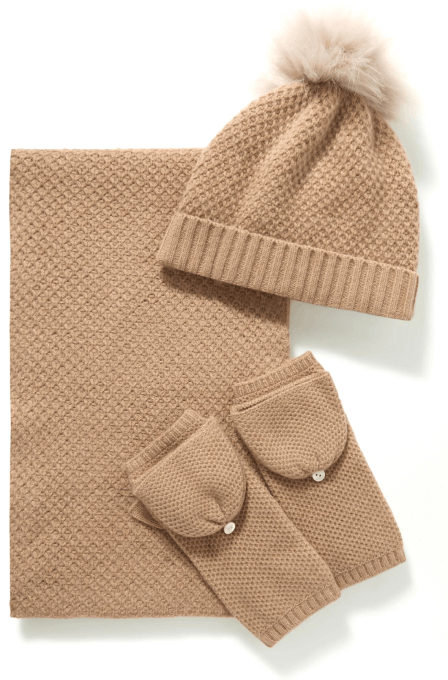 Portolano Beanie, gloves, scarf