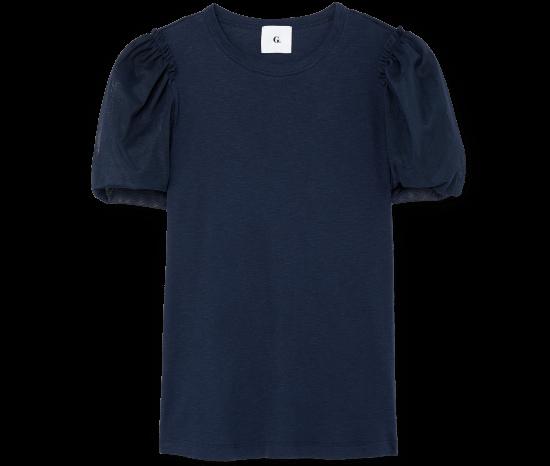 Glatzer Tulle Puff-Sleeve Shirt