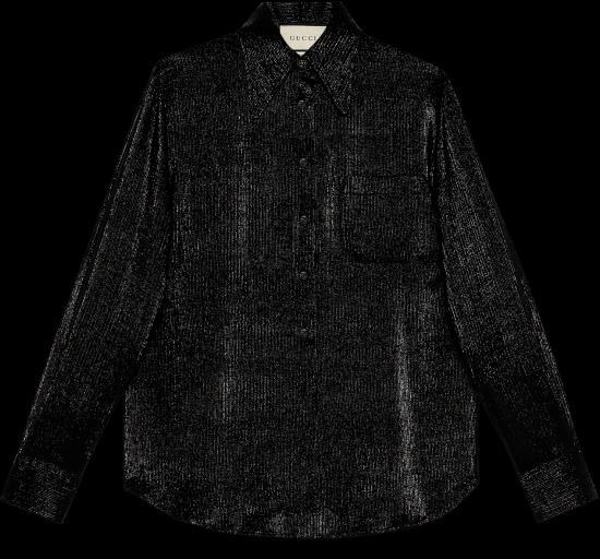 pinstripe crêpe shirt