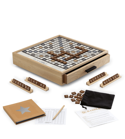 WS Game Company Maple Luxury Edition Scrabble