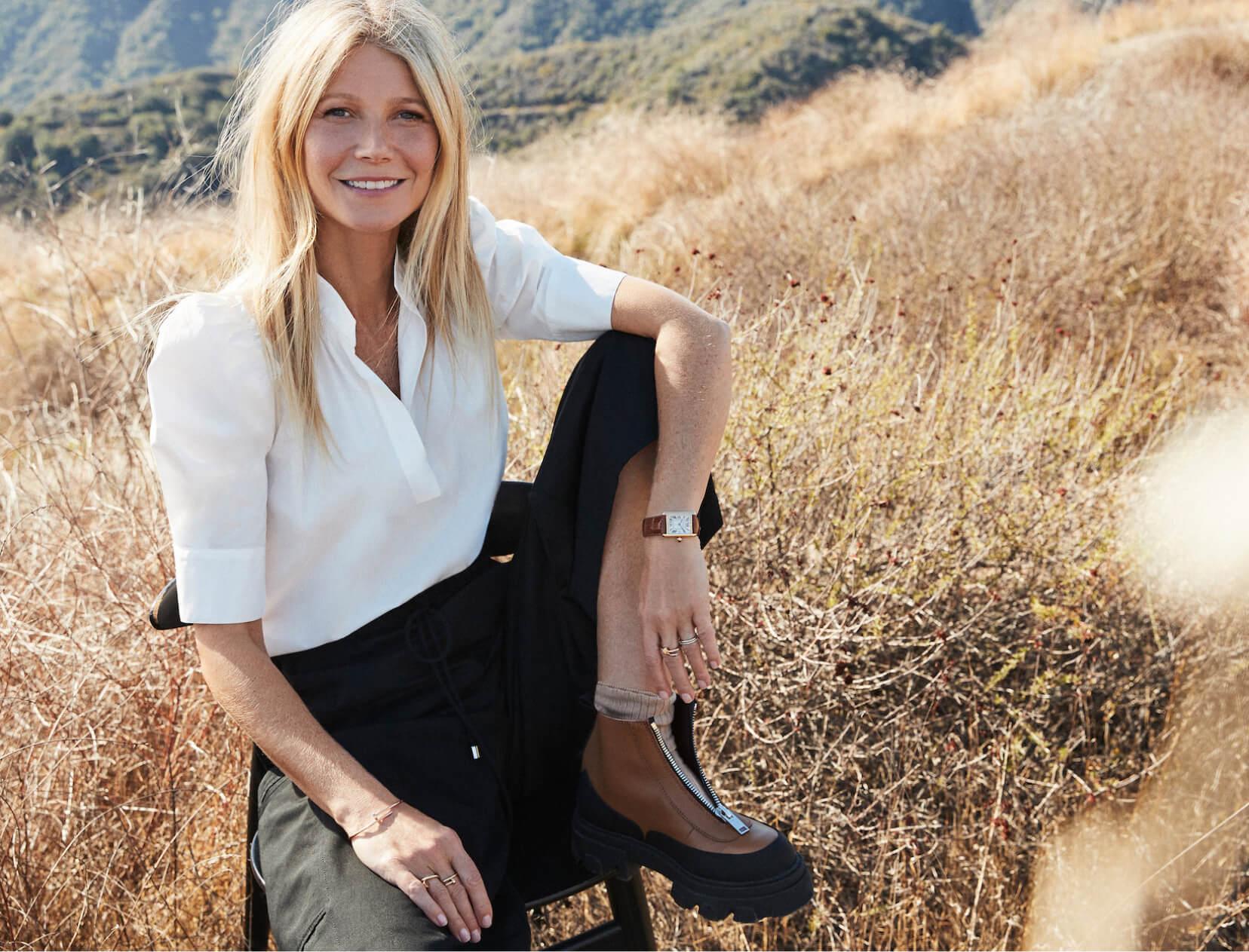 Gwyneth in a field