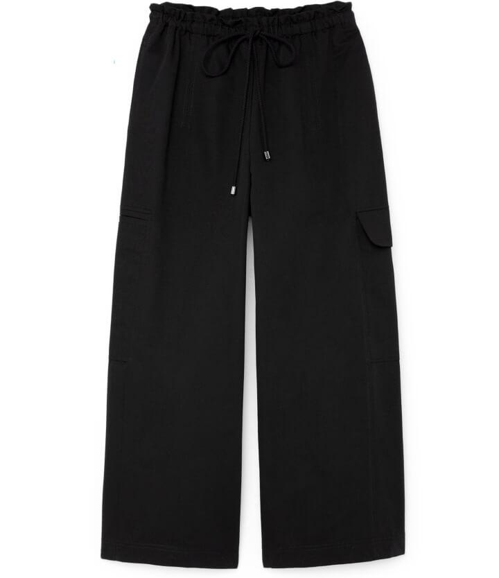 Demi Wide-Leg Drawstring Cargo Pants