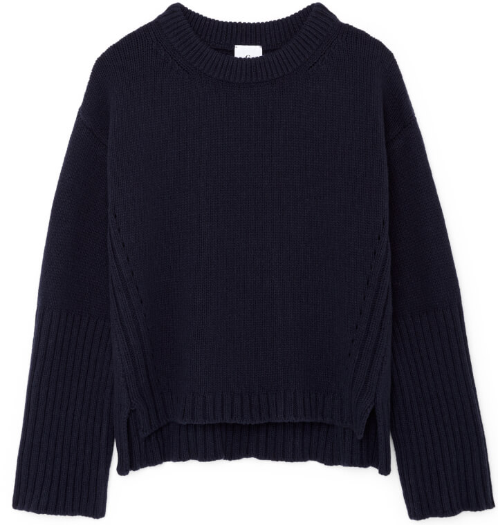 Van Nice High-Cuff Crewneck Sweater