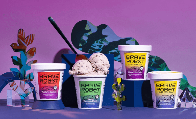 Brave Robot vegan Ice cream pack